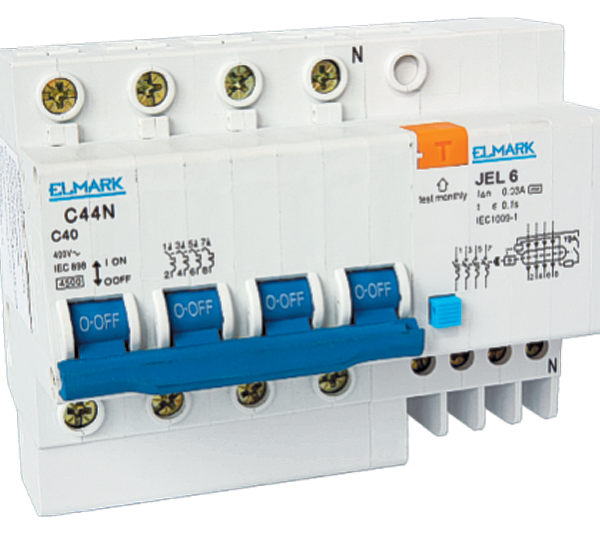 PT|E Combained circuit breakers with electronic RCD JEL6 40A/30mA